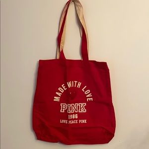 New in bag VS Pink raspberry canvas  tote bag